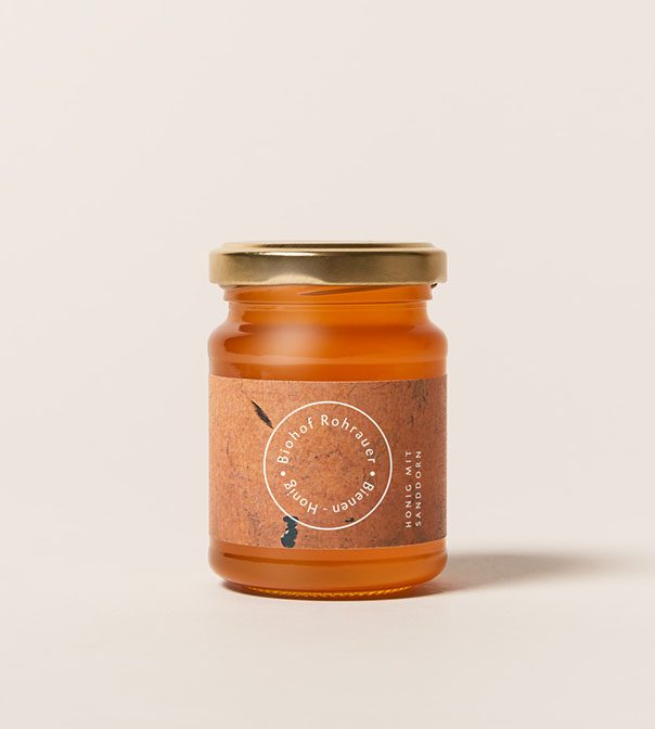 Honig mit Sanddorn 165g